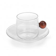"""Чашка для чая/кофе и блюдце """"Bilia"""", янтарный"""