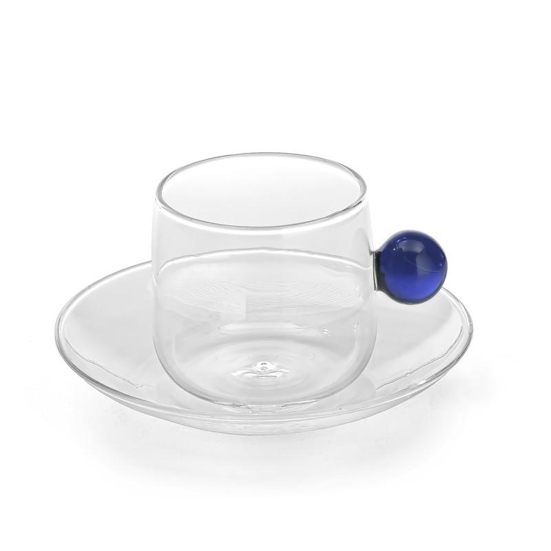 """Чашка для чая/кофе и блюдце """"Bilia"""", синий"""