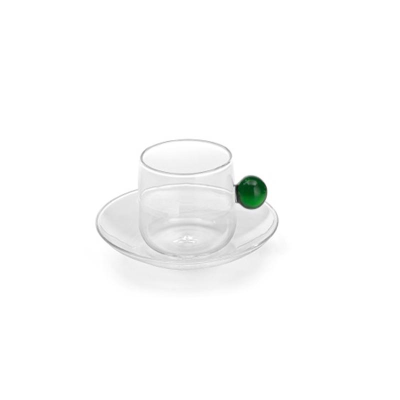 """Чашка для чая/кофе и блюдце """"Bilia"""", зеленый"""