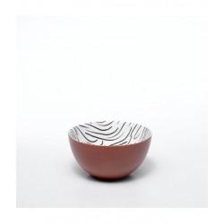 "Салатник маленький ""Crayon_Red brushstrokes"""