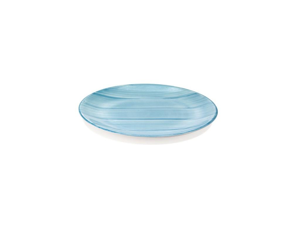 "Тарелка десертная ""Striche"", аквамарин"