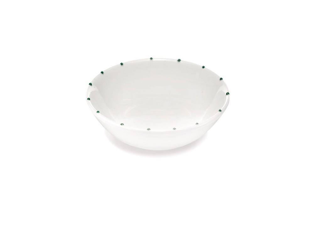 """Тарелка обеденная """"Striche"""", зеленый"""