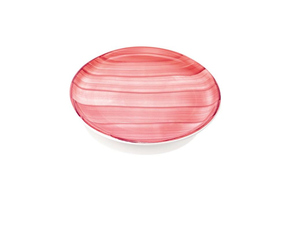 """Блюдо для пиццы """"Striche"""", розовый, 33см."""