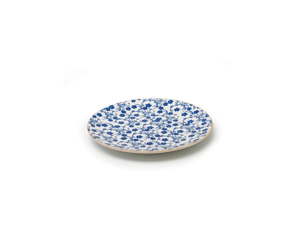 "Тарелка десертная ""Tue_Blue flowers"""