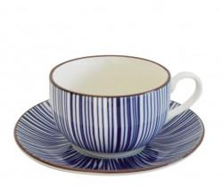"""Чайная пара """"Tue_Blue stripes"""", 270мл."""