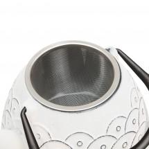 Чайник заварочный чугунный (белый) 0,95л Studio