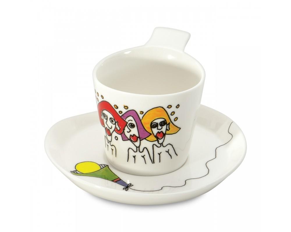 Набор 2шт чашек для кофе с блюдцем 0,18л Eclipse ornament