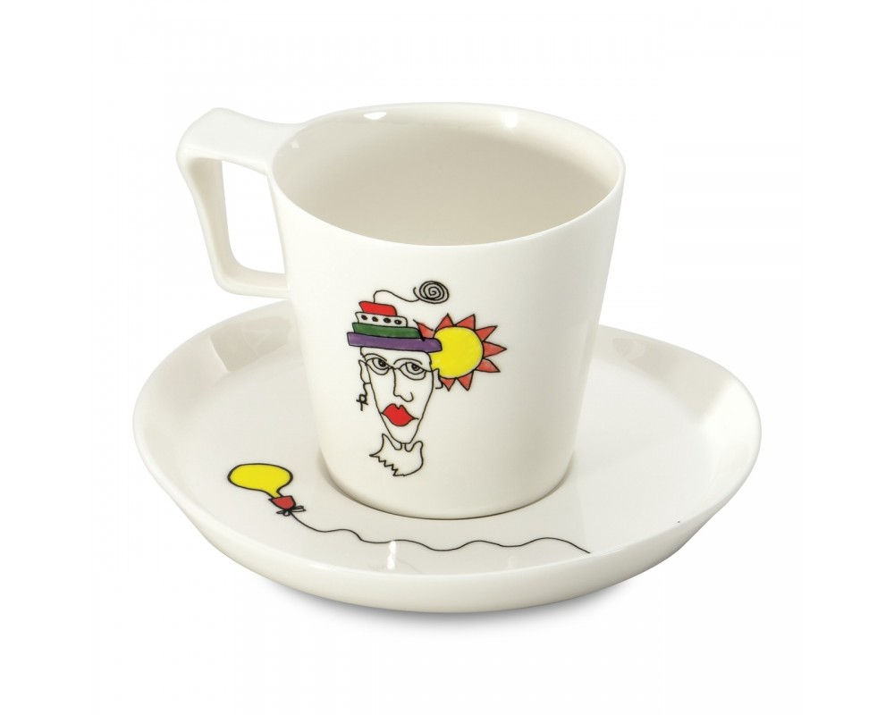 Набор 2шт чашек для завтрака с блюдцем 0,4л Eclipse ornament